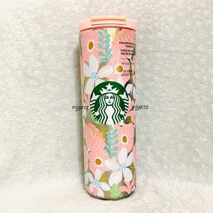 Starbucks Pink Floral Insulated Tumbler